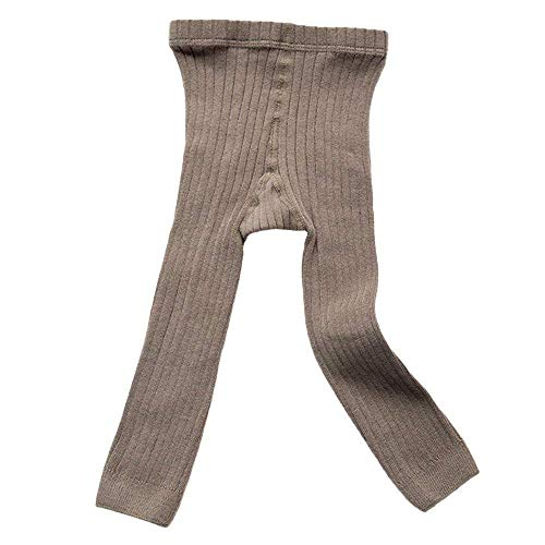(Toddler Baby Basic Ribbed Sweater and Leggings Footless Tights Kids Little Girls Dress Bottom Top Pants (Gray, 1-3)
