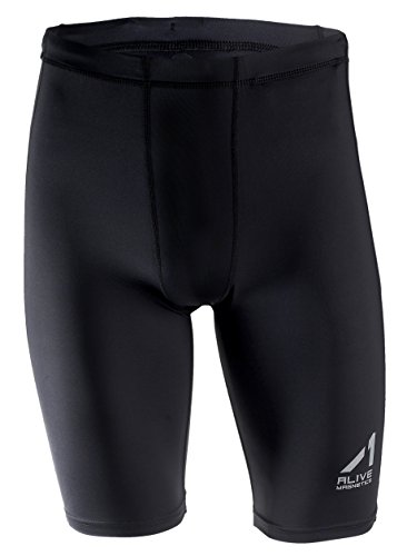 Alive Magnetics Men's Cool Quick Dry Sports Under Base Layer Compression Shorts...