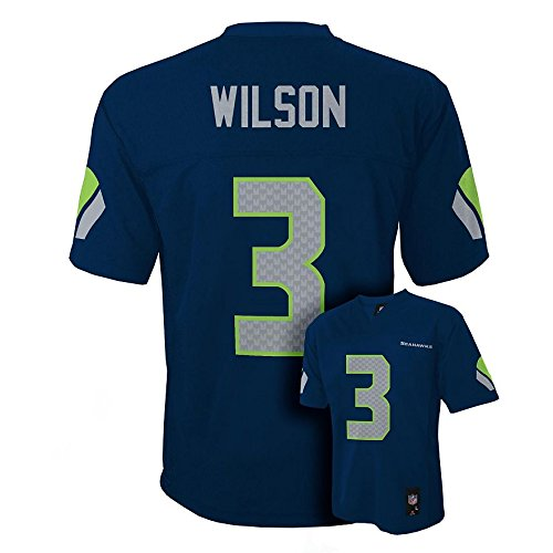 Outerstuff Russell Wilson Seattle Seahawks Youth Navy Jersey Small 8