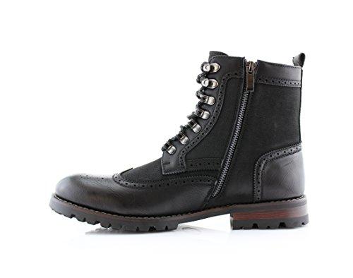 Polare Volpe Mpx 808586 Mens Cohen Combattimento Caviglia Vestito Moto Stivali Esterni Neri