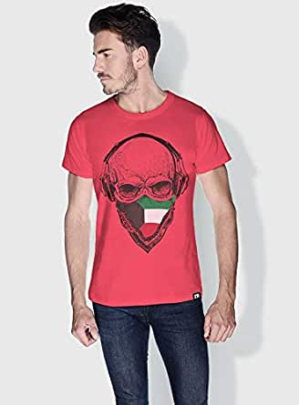 Creo Kuwait Skull T-Shirts For Men - L, Pink