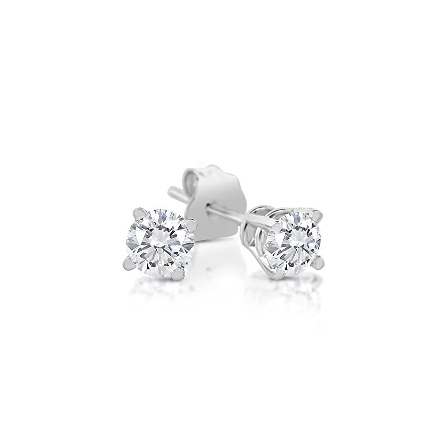 1/4ct tw Diamond Stud Earring in 14k White Gold