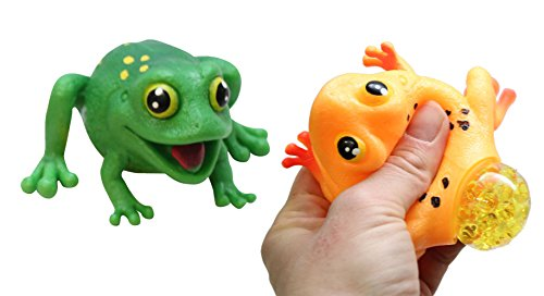 Curious Minds Busy Bags Set of 2 Frogs with Eggs Squeeze Stress Balls - Sensory, Stress, Fidget Toy - Squishy Toy