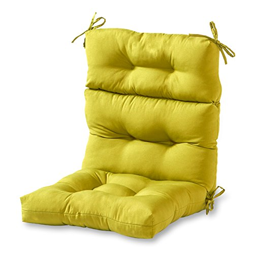 Chair Garden Seat - Greendale Home Fashions Indoor/Outdoor High Back Chair Cushion, Kiwi