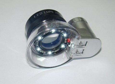 SoLed LED Illuminated 20X Jewelers Loupe Magnifier - Premium Glass Magnifying Eye Loop Stand Made With Aircraft Grade Aluminum(sliver)