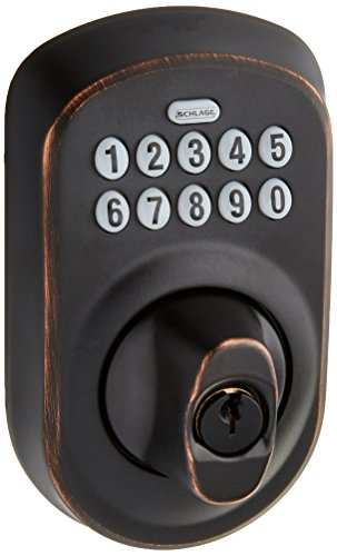 Schlage BE365PLY716 Plymouth Keypad Deadbolt, Aged Bronze Philadelphia Hardware Group