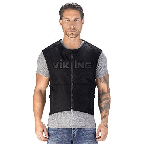 (Viking Cycle Warhawk Armored Textile Vest (2XL) Black)