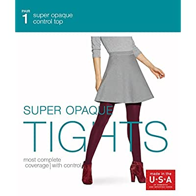 No Nonsense Women's Super Opaque Control-Top Tights at Women's Clothing store