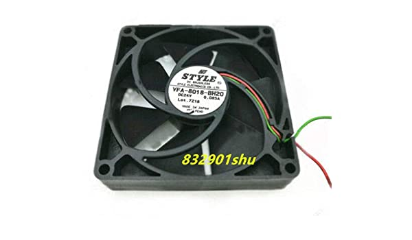 For STYLE VFA-8018-BH20 Drive chassis cooling fan DC24V 0.085A 80X80X20mm