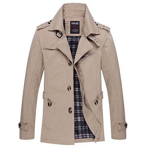 Autumn Light Tops Men's Casual Lsm Jacket Windbreaker Spring Jackets Coat Khaki Outerwear prwtvSwq