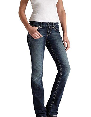 Ariat Women's R.E.A.L. Mid Rise Straight Leg Jean, Ella Celestial, 31 Reg – DiZiSports Store
