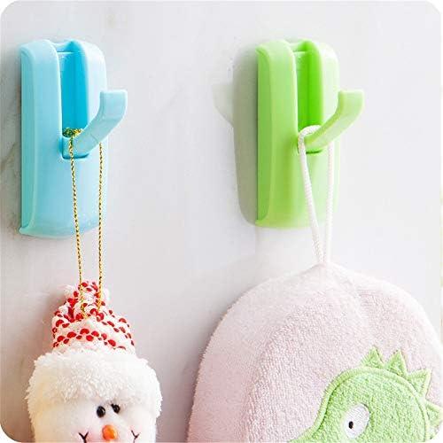 ウォールフック ウォール収納創造的な家の装飾の再利用可能なシームレス防水浴室の台所の油のステッカーに重いフックをフック クリエイティブウォールフック (Color : Multi-colored, Size : Free size)