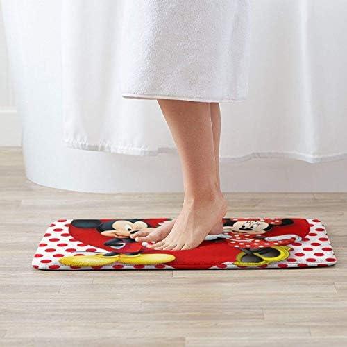 Lavabile in Lavatrice//asciugare Yang Tappeto Extra Morbido e Assorbente Tappetino per Vasca da Bagno Tappetino da Bagno Topolino Love Minnie Doccia e Bagno 40 x 60 cm