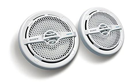 Sony XSMP1611 6.5-Inch Dual Cone Marine Speakers (White) (2006 Toyota Sequoia Speakers)