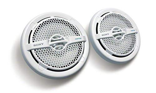 - Sony XSMP1611 6.5-Inch Dual Cone Marine Speakers (White)