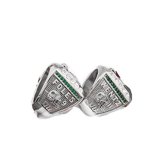 FanzRing 2017-2018 Philadelphia Eagles Super Bowl Championship Ring Wentz Foles Set Champion Ring (9) (2018 Super Bowl Ring)