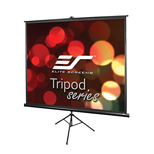 Elite Screens Tripod, 120-inch, Adjustable Multi Aspect Ratio Portable Pull Up Projection Projector Screen, T120UWV1 (Multi Display Ceiling Mount)