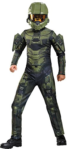 UHC Boy's Master Chief Ultra Prestige Halo Military Soldier Halloween Costume, Child S (4-6) - Halo 4 Master Chief Costumes
