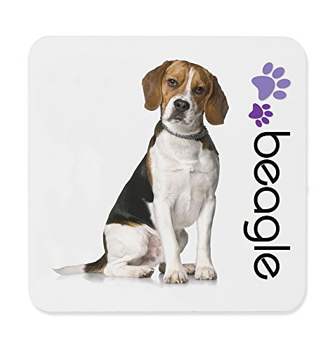 Dimension 9 Beagle Coaster, White