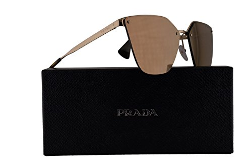 Prada PR68TS Sunglasses Pale Gold w/Polarized Dark Brown Mirror Gold 63mm Lens ZVN5N2 SPR68T PR 68TS SPR - Prada.com Sale