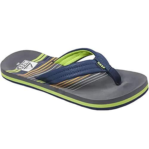 (Reef Boys AHI Sandal Stripe Green 13-1 Medium US Little Kid)