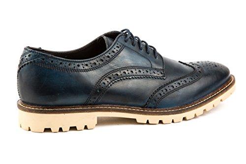 Base London - Zapatos de cordones de Piel Lisa para hombre 43 Azul
