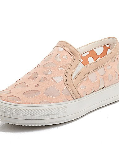 ZQ gyht Zapatos de mujer-Tacón Plano-Punta Redonda-Mocasines-Casual-Encaje-Negro / Rosa / Blanco , pink-us11 / eu43 / uk9 / cn44 , pink-us11 / eu43 / uk9 / cn44 white-us10.5 / eu42 / uk8.5 / cn43