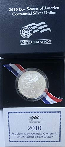 2010 P Boy Scouts Of America Comes in Box From Mint Dollar Brilliant Uncirculated US Mint