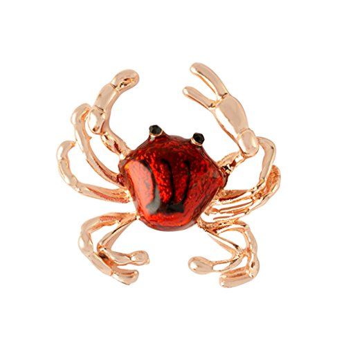 Jili Online Vintage Animal Dog Crab Brooch Pins Insect Breastpins Wedding Jewelry For Women Men - Red