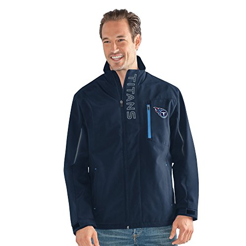 G-III Sports NFL Tennessee Titans Adult Men Energy Soft Shell Full Zip Jacket, X-Large, Navy from G-III Sports