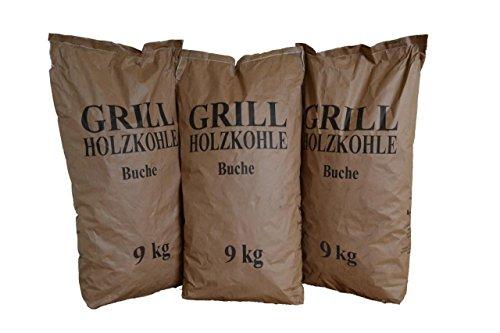 27 kg Grillholzkohle Holzkohle (Buche)