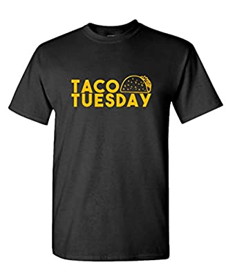 TACO TUESDAY funny joke gag party fiesta - Mens Cotton T-Shirt