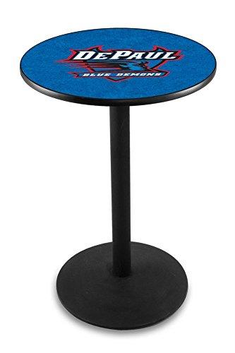 "Gambling Single Chrome Ring Swivel Barstool Size: 25"" Height, Team: 4 Aces"