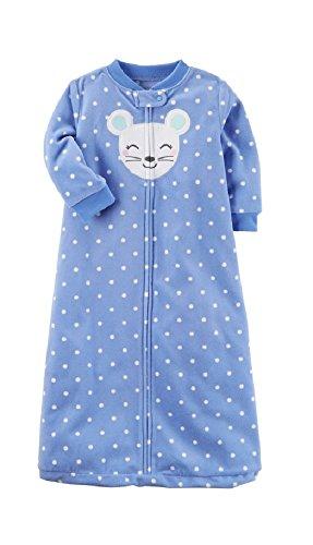 Carter's Animal Polka-Dot Fleece Sleep Bag - Baby Girl, Mouse, Medium / 6-9 Months