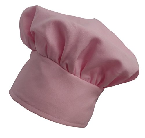Pink Chefskin Chef Hat Velcro Adjustable Best Gift (Chef Pink)