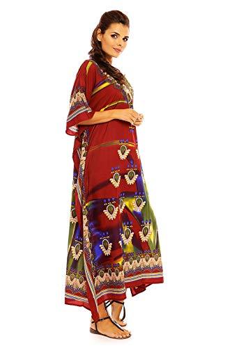 Pour Libre Coupe Neuf Maxi Robe Oversize Tunique Rouge Caftan Kimono Caftan Femmes Taille 20811 dnxxRFZ