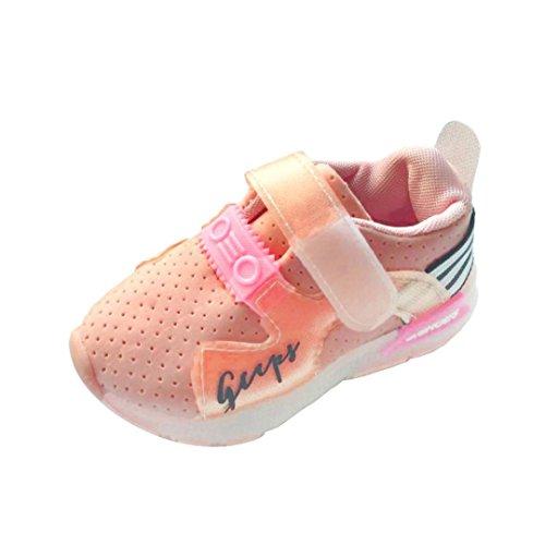 Transer® Baby LED Leuchtet Sneakers Kinder Jungen Mädchen Kleinkind Sport Laufen Walkingschuhe Casual Autumn Schuhe Rosa