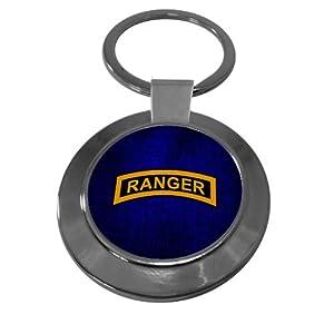 Premium Key Ring with U.S. Army Rangers (Airborne), tab
