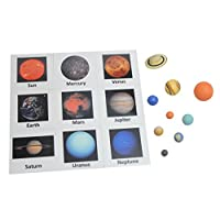 Curious Minds Busy Bags Solar System Match - Space and Planets Matching to Cards - Learning Toy Figurines. Nomenclature Science Work