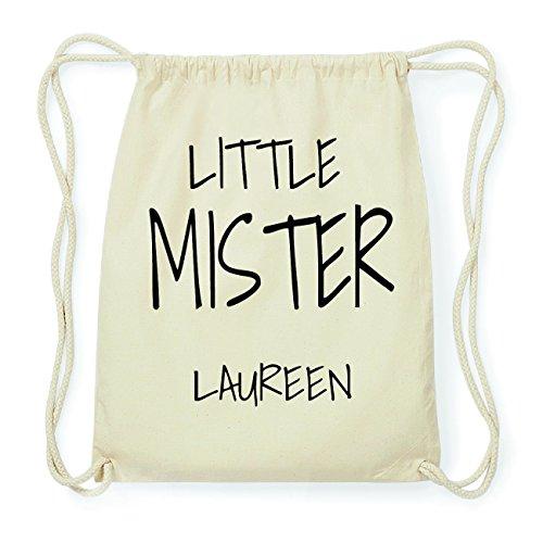 JOllify LAUREEN Hipster Turnbeutel Tasche Rucksack aus Baumwolle - Farbe: natur Design: Little Mister