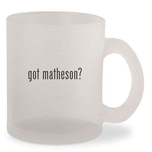 Jardin Glass Mirror - got matheson? - Frosted 10oz Glass Coffee Cup Mug
