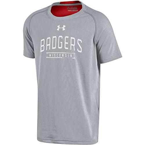 Under Armour Youth Boys' Under Armour NCAA Charged Cotton Short Sleeve Tee, Medium, Gray