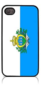 HeartCase Hard For Apple Iphone 4/4S Case Cover (Flag of San Marino )