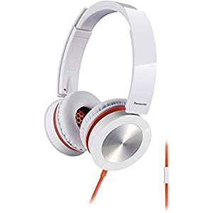 Panasonic RP-HXS400M-W Sound Rush Plus On-Ear Headphones, White