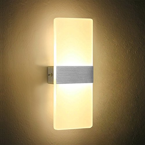 Dslg Modern Acrylic 6W LED Wall Sconces Light Lamp Decorative Light Fixture for Bedroom, Living Room, Balcony, Corridor, 27X11X4cm,Warm White 3000K