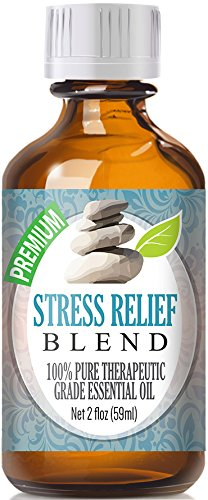 Stress Relief Blend - Best Therapeutic Grade Essential Oil - 60 Milliliter (Bergamot, Patchouli, Blood Orange, Ylang Ylang & Grapefruit)
