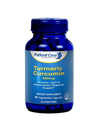 Patient One Turmeric Curcumin 500 mg – 90 Vegetarian Capsules Review