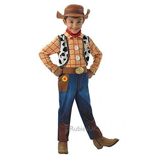 Disney Pixar Costumes Uk (TOY STORY (DISNEY PIXAR) ~ Woody (Deluxe) - Kids Costume 3 - 4 years by Rubies)