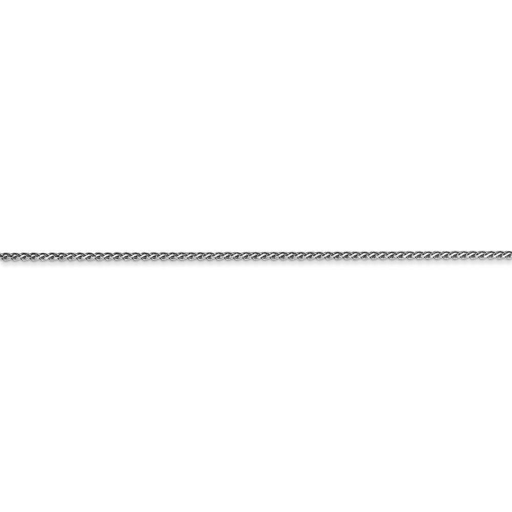 Leslies Real 14kt White Gold 1mm Spiga Chain; 20 inch