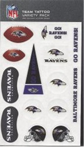 Rico Industries NFL Baltimore Ravens Tattoo Variety Pack ()